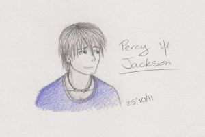 Percy Jackson Sketch by TheMuzbo