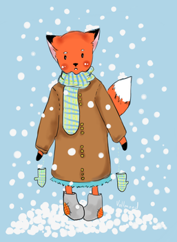 Winter Foxy by chronoGRAY