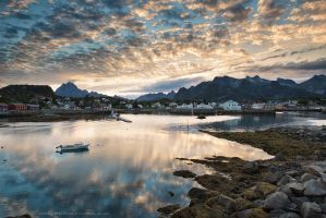 Kabelvag Harbour by Stridsberg