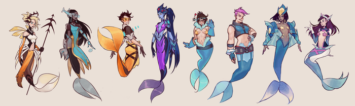 OVERWATCH MERMAIDS by mior3e