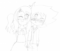 Amourshipping Sketch- Date Night by EeveeFanSparkle