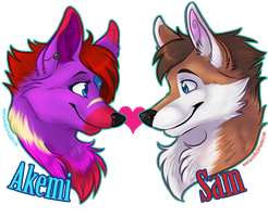 Couple Badge for Flarveon by GaruryKai