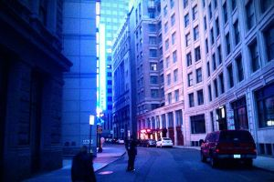 Blue street by bostonlife
