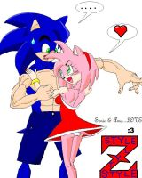 Sonic and Amy DBZ style by sonigoku