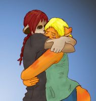 Healing hugs from friends by sushi-just-ask