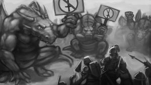 Dragon Protest by Catic