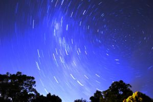 Star Trails second attempt. by MelissaJayynee
