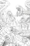 Tiamat Battle - FF9 (pencils) by BrianSoriano