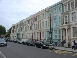 Notting Hill pastel houses by LunaticDesire