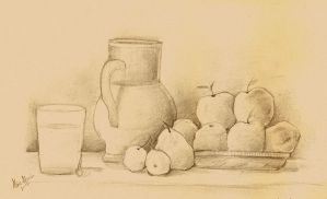 Still Life pencils by AlineMendes