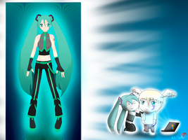 The new style of Miku by JackFrost-LCDA