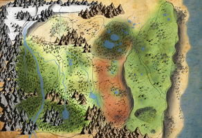 The Pack Roleplay: Territory Map by xDoglate