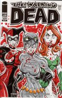 Gotham Girls Walking Dead Sketch Cover by calslayton