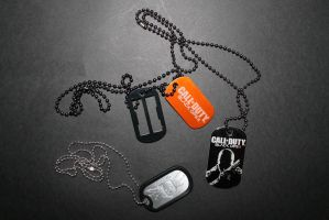 Call of Duty Dog Tags by sabresteen