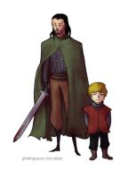 Tyrion and Bronn by allytha