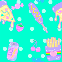 Junk Food Pattern by MissJediflip