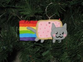 Nyan Cat Ornament by LadySpook