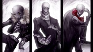 Gaster family by MEGA1126