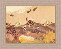 Sea Life - Marquetry by amazoncanvas