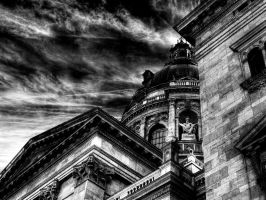 St. Steven's Basilica BW by gabor0928