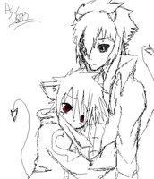 hug sketch by animekitty605