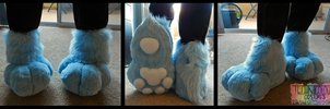 Miles Fursuit Feetpaws by TECHNlCOLOUR