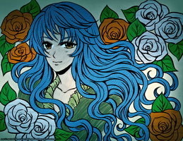 Seventh DColor - Lady of Roses V1 Blue by LordNobleheart