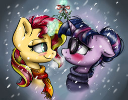 Under the mistletoe by GaelleDragons