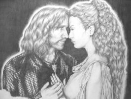 Aragorn and Arwen by NatalieAnne24