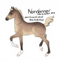 Nordanner Foal Design Entry for Earthquakern by StableDaydreams