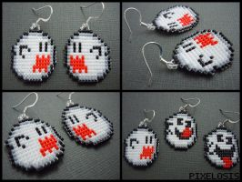 Boo Earrings by Pixelosis
