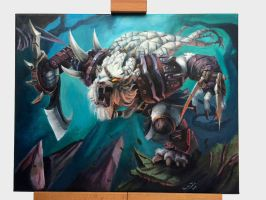 50 Hour Rengar Canvas Paint by Iceus135