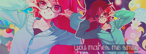 You makes me smile by Natsuki-Lizzy