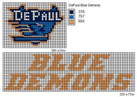 DePaul Blue Demons by cdbvulpix