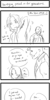 FMA: 4koma: Hairstyling passed on for generations by qianying