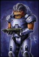 Mass Effect: Urdnot Grunt by Lukael-Art