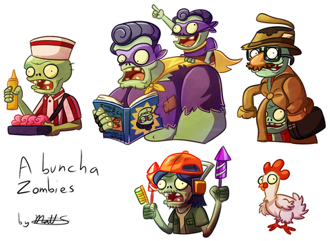 PvZ - A buncha' Zombies by FluffyMystic