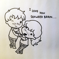 Chibi Percabeth by HangStyles