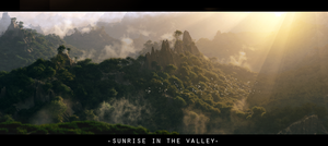 sunrise in the valley by Hendricbuenck