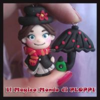 FImo Mary Poppins orecchini Ploppi by MagicoMondoDiPLOPPI