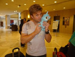 Vic Mignogna AND Lyra by Halo-Bronies