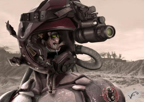 Prctica 10. Photobashing Casco by RogueVAL