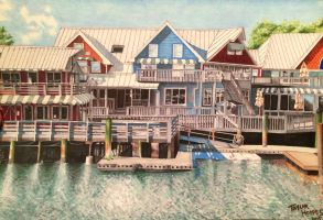 Lakehouse Drawing by Scented-Candle