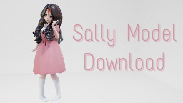 [MMD Model Download] Sally Williams Creepypasta by StarryCupcakes