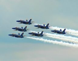 The Navy's Blue Angels 6 by Dracoart
