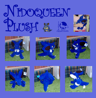 Nidoqueen plush collage by Ishtar-Creations