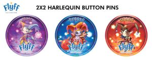 FLYFF Harlequin Button Pins by Ardnaz