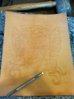 COA Tooling 1 by Blackthornleather