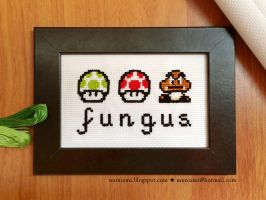 Mario Bros. 3 cross stitch by natalianinomiya