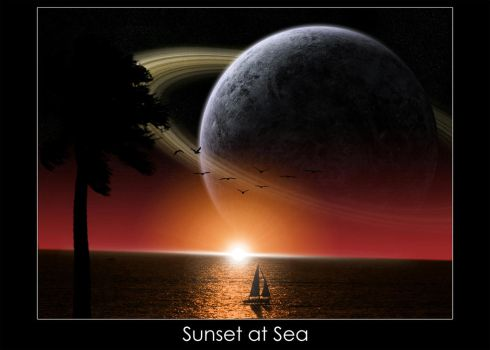Sunset at Sea by Mikooster